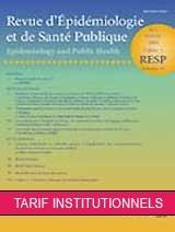 Abonnement Revue d'épidémiologie et de santé publique