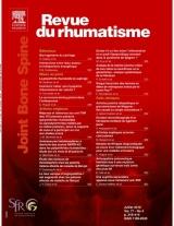Abonnement Revue du rhumatisme