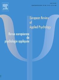Abonnement Revue européenne de psychologie appliquée