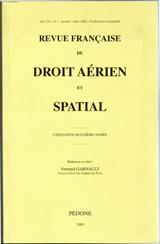 Abonnement Revue française de droit aérien spatial