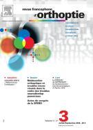 Abonnement Revue francophone d'orthoptie