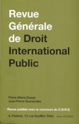 Abonnement Revue générale de droit international public