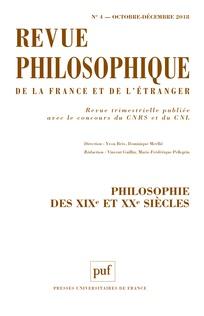 Abonnement Revue philosophique