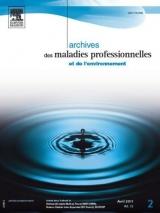 Abonnement Archives des maladies professionnelles et de l'environnement