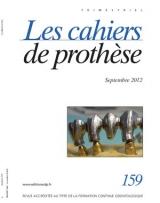 Abonnement Les Cahiers de Prothèse