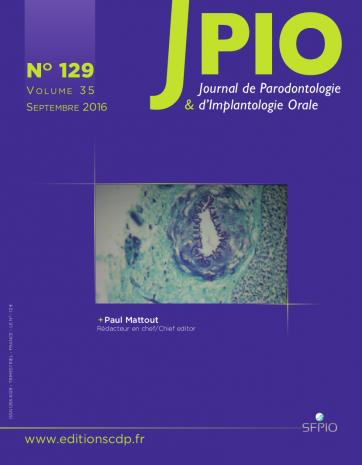 Abonnement Journal de parodontologie et d'implantologie