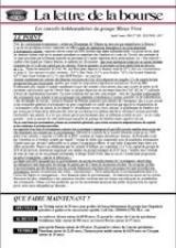 Abonnement Lettre de la bourse