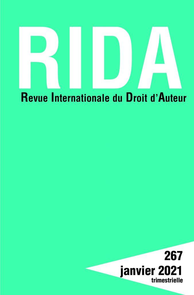Abonnement Revue internationale du droit d'auteur