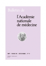 Abonnement Bulletin académie nationale de médecine