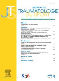 Abonnement Journal de traumatologie du sport