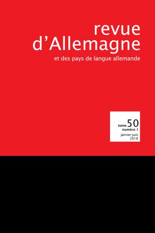 Abonnement Revue d'Allemagne et des pays de langue allemande