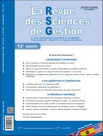 Abonnement La Revue des sciences de gestion