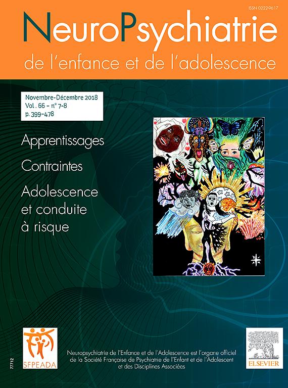 Abonnement Neuropsychiatrie de l'enfance et de l'adolescence