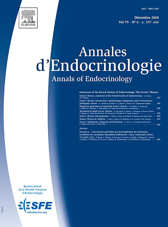 Abonnement Annales d'endocrinologie