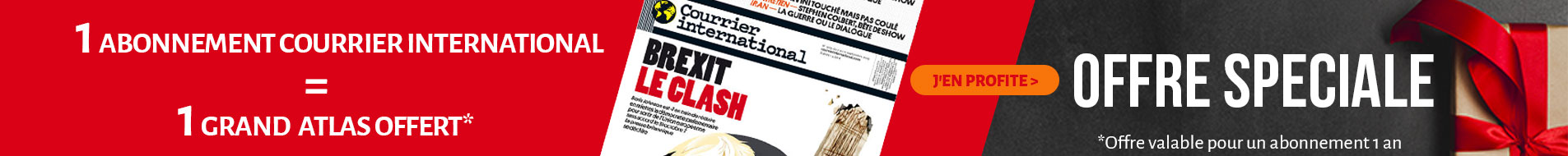 Offre speciale courrier international