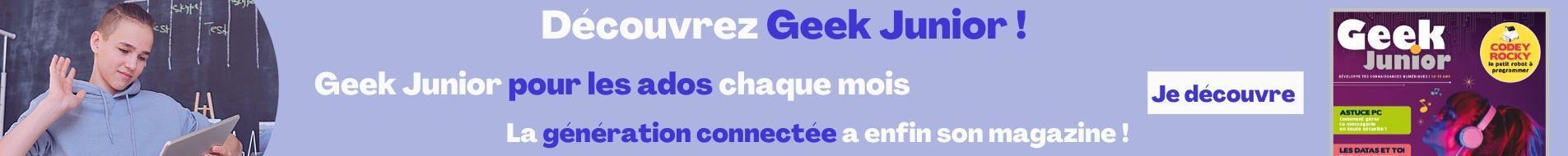 Banniere Geek Junior